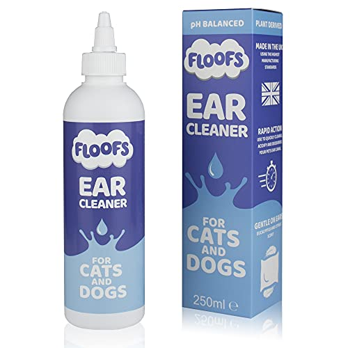 Floofs Dog Ear Cleaner Solution | Our Anti-Viral Dog Ear Drops Stop Stinky Ears, Itching and Head Shaking in Cats and Dogs Pooch Ear Wash Aides in Cleaning Aural Canals in Dogs, Cats and Puppies