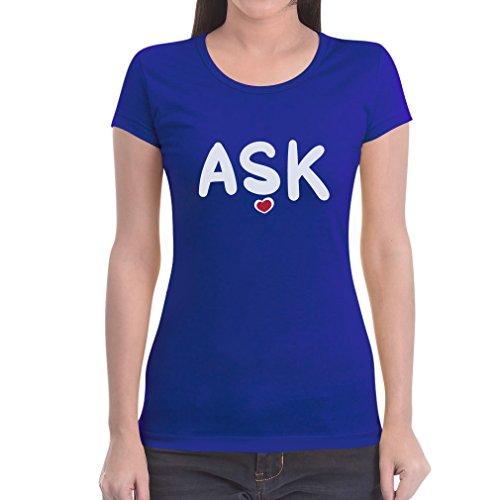 Ask Liebe auf Türkisch Sevgililer Günü Valentins Frauen T-Shirt Medium Blau