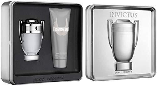 Paco Rabanne Invictus Geschenkset (bestehend aus 100ml EDT Spray und 100ml All Over Shampoo)