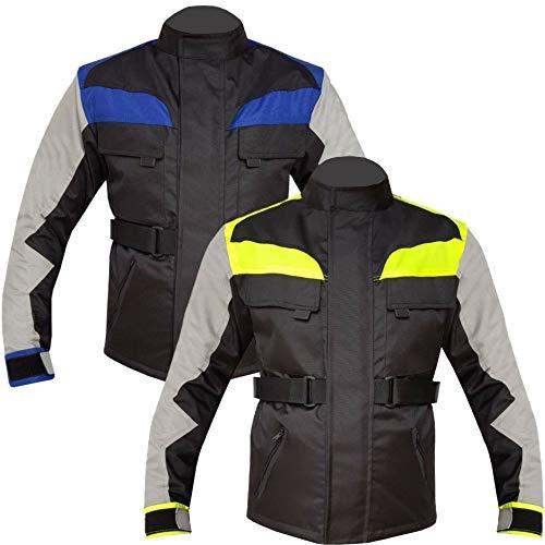 Warrior Gears Chaqueta de motocicleta para niños, chaqueta de motocicleta textil de alta visibilidad para niños, chaqueta de motorista con blindaje CE para niños, chaqueta impermeable para niños
