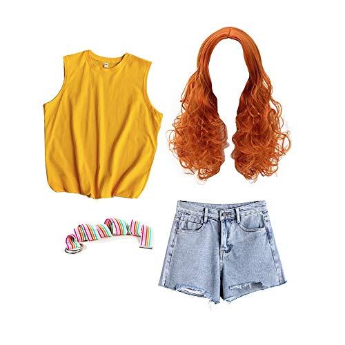 VersusModa Simil Max - Juego de camiseta amarilla vaquera para carnaval, Cosplay Stranger, disfraz Things Wig MAXST01 multicolor S