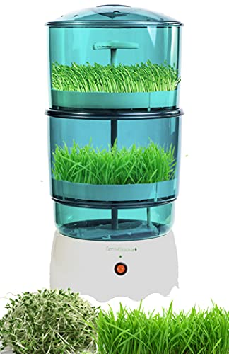 SproutStacker 2 Level Automatic Sprouter Machine by Bright Kitchen Automated Heated Seed Growing Sprouting Machine (2 Level Sprouter)