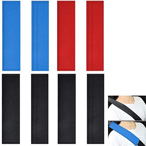 cojín para cinturón de seguridad Fiyuer 8 pcs almohadilla protector cinturón coche niños para Proteger Su Cuello Y Hombros