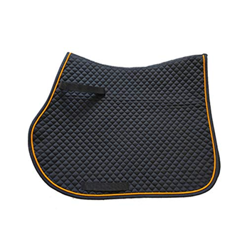 YINSONG Mantilla de Caballo - Mantilla para Uso General Ecuestre Cuchilla de Silla de Montar Acolchada Cómoda y Completa, Negro