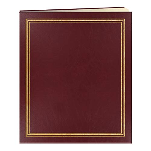 Pioneer Jumbo Family Memory Album, 11 3/4x14' Scrapbook with 50 Archival Buff Colored Pages, Burgundy Covers