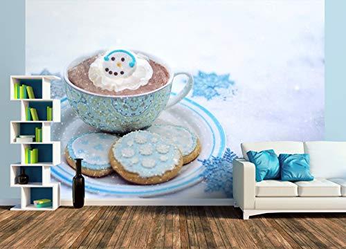 Premium Foto-Tapete Kekse und heiße Schokolade im Winter (versch. Größen) (Size XL   465 x 310 cm) Design-Tapete, Wand-Tapete, Wand-Dekoration, Photo-Tapete, Markenqualität von ERFURT