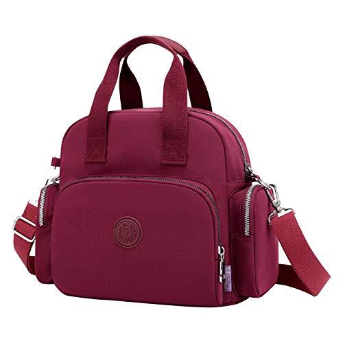 Damentaschen Groß Sommer Umhängetasche Handtaschen Shopper Rucksack, 3-Zweck-Rucksack mit USB-Ladeanschluss - Tragetasche Henkeltasche Schultertasche Damen Sportlich (Rot)