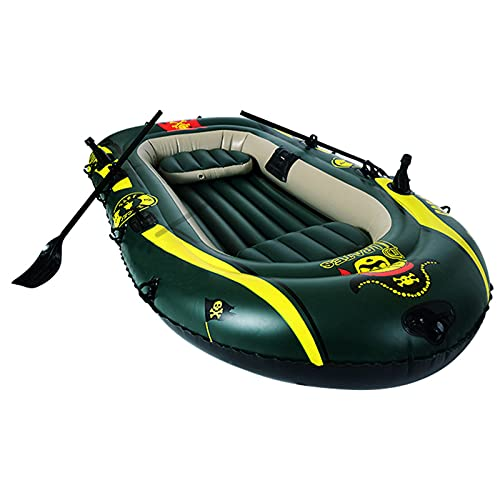 LANHA Inflatable Boat 3 Person Thickened Kayak Canoe with Air Pump Rope Paddle Folding PVC Fishing Boat Inflatable Raft Rubber Boats for Adults Fishing and Kids Coast Outdoor