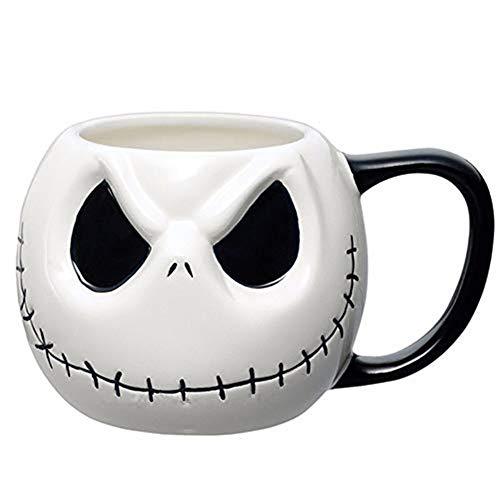 AKAMAS Skellington Kaffeetasse Totenkopf Trinkgeschirr Jack Cartoon Kaffeetasse Teetasse Halloween