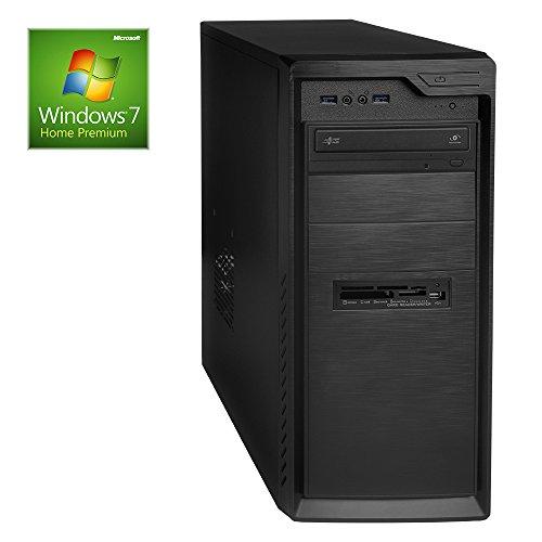 ONE Multimedia-PC AMD Bulldozer FX-4300, 4x 3.80 GHz (Quadcore) | 16 GB DDR3-RAM | 500 GB HDD | BLU-RAY Brenner | GIGABYTE GA-78LMT-USB3 | CardReader | 2048 MB AMD Radeon R5 230 (1GB GDDR3 + 1GB Hypermemory | Passiv) DVI, HDMI, VGA | 7.1 Sound | LAN | inkl. Windows 7 64-Bit
