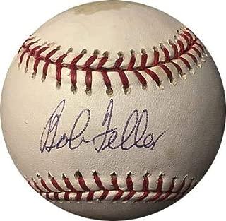 Signed Bob Feller Baseball - Official Major League tone spots Hologram #K78796) - PSA/DNA Certified