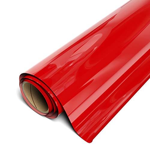 """Siser EasyWeed HTV 11.8"""" x 3ft Roll - Iron on Heat Transfer Vinyl (Red)"""