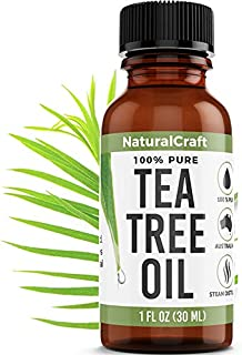 Tea Tree Oil - 100% Pure Essential Oil for Acne, Skin, Hair, Shampoo, Oils, Piercings, Face, Fungus - Natural Undiluted