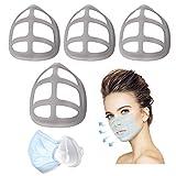 シリコーン3Dイ マスク インナーフレーム ひんやりプラケット 鼻マスククッション インナーサポートブラケット メイクキープフレーム 口鼻サポートアーティファクト 通気空間を増やす 口紅の保護 メイク崩れ防止 柔らかい 通気性 超快適
