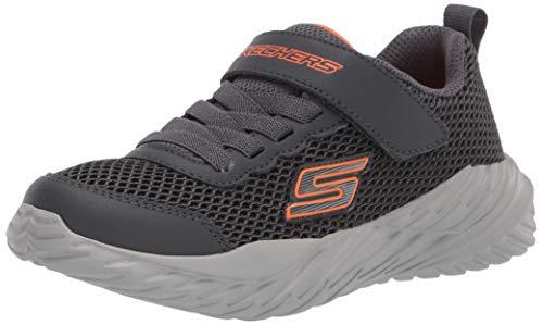 Skechers Nitro Sprint Krodon, Zapatillas Niños, Gris (Charcoal/Orange), 28.5 EU
