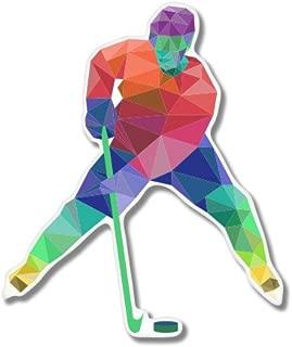 Hockey Geometric Modern Design Vinyl Sticker - Car Phone Helmet - SELECT SIZE