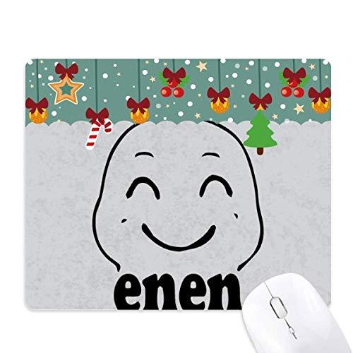 Lovely Smile - Alfombrilla de ratón con diseño de emoticono, color negro