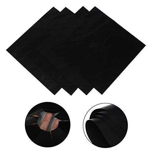 4PC Stove Protector Cover Liner Gas Stove Protector Gas Stove Stovetop Burner Protector Kitchen Accessories Mat Cooker Cover (Color : 4pcs Black)