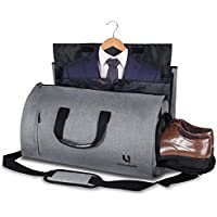 Bolsa Portatrajes Funda de Viaje para Traje Bolso Porta Trajes Ropa Vestidos Carry-On Garment Bag con Compartimentos para Zapatos y Correa Ajustable para Hombro Hombres Mujeres