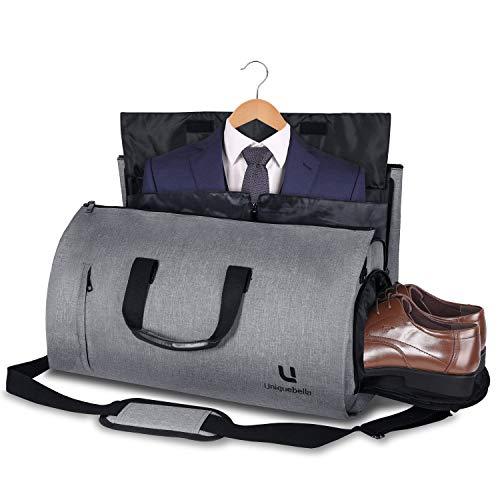 UNIQUEBELLA Anzugtasche, Kleidersack Reisetasche Anzugsack Umhängetasche für Herren,Flugzeug, Reisen, Bussiness,Fitness Anzug Garment Gym Bag, Sporttasche für Männer