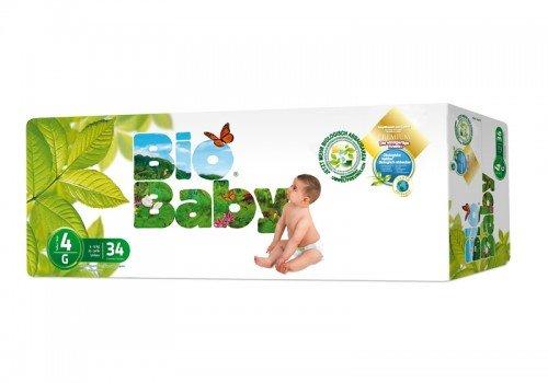 Couches Bio Baby Écologiques jetables biodégradables Lot de 136 couches (9-13 kg)