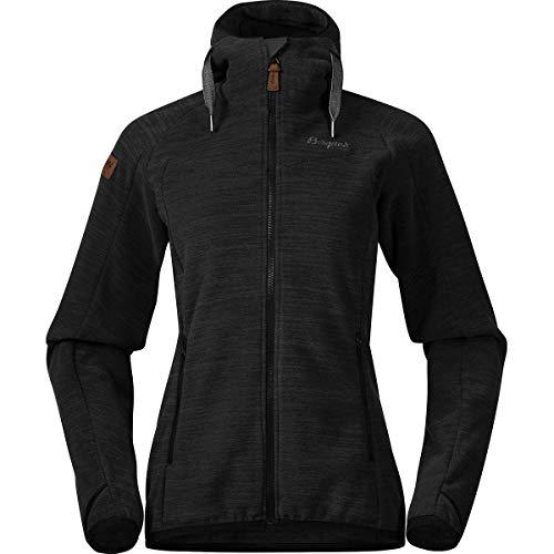 Bergans Damen Hareid Fleece Jacke, blackmelange, XL