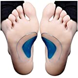 AlexVyan Foot Insoles Correction Silicone Pair Arch Pads for Flat X-type Legs, Orthopedic
