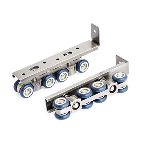 Aexit Home Garderobenschrank Schiebetür 8 Roller Blau Silber Ton Paar (91d409e1a48c243fe0cad0e75791422d)