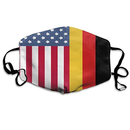 Deutsch-amerikanische Flagge Printeddust Unisex Face Cover