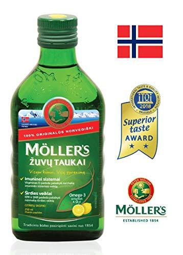Moller\'s Fish Oil OMEGA-3 -LEMON- Baby Children Adults