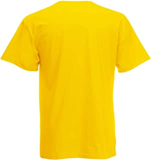 Fruit of the Loom, Camiseta de manga corta de Fruit of the Loom para hombre Amarillo amarillo Medium
