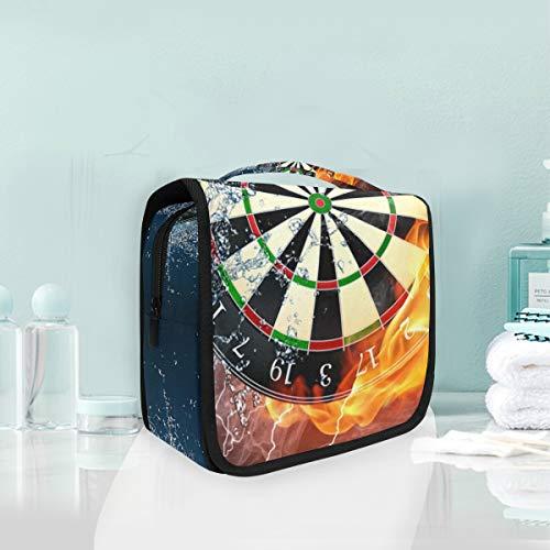 LUPINZ Cool Darts On Fire Wasser-Reise-Kulturbeutel für Badezimmer, Aufbewahrungstasche Kosmetiktasche
