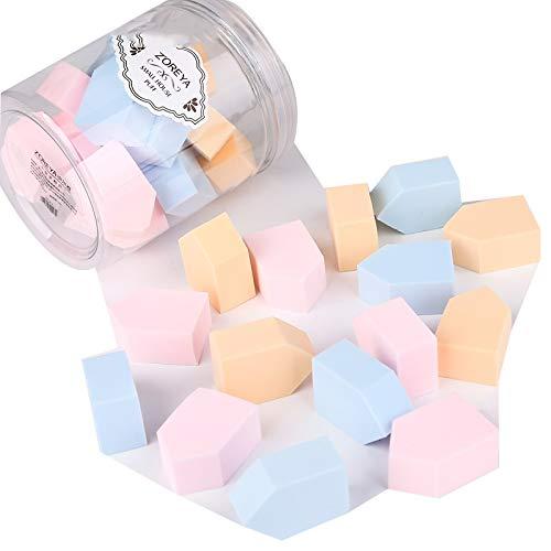 Hzd Paquet de 15 éponges, œufs de beauté secs et humides, ne pas manger, outil de maquillage pour coussin en coton et gourde (Couleur : Couleur claire)