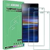 AOKUMA Cristal Templado Sony Xperia 10, [2 Unidades] Protector Pantalla para Sony Xperia 10 Robusto Antiarañazos Antihuellas con Borde Redondeado Dureza 9H+ Antiburbujas