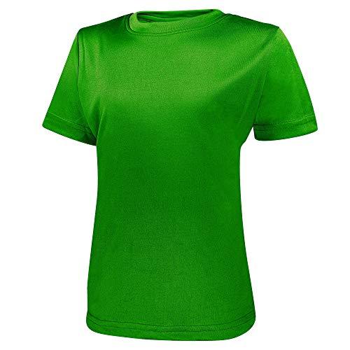 Alps to Ocean Sports Kinder Sportshirt Funktions T-Shirt Teamsport (schnelltrocknend, atmungsaktiv), Größe:152, Farbe:Green