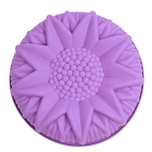 VWH 3D Gateau au Chocolat et Un Petit Tournesol Moule en Silicone Violet