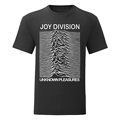 LaMAGLIERIA Herren-T-Shirt - Joy Division T-Shirt Rock 100% Baumwolle, XL, Schwarz