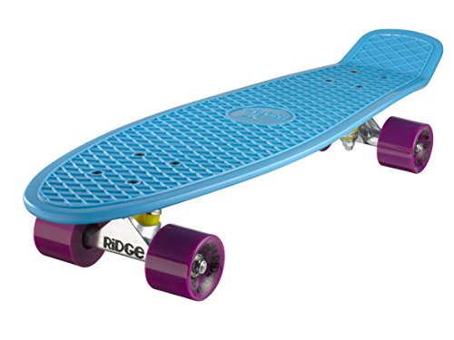 Ridge Skateboard Big Brother Nickel 69 cm Mini Cruiser, blau/lila