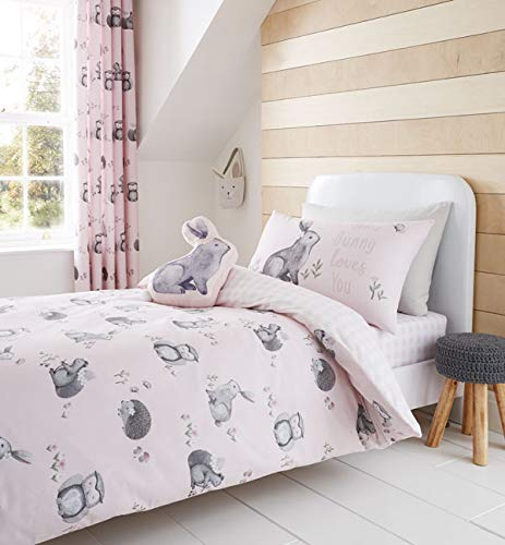 Catherine Lansfield Woodland Friends Shaped Cushion 40x60cm Pink