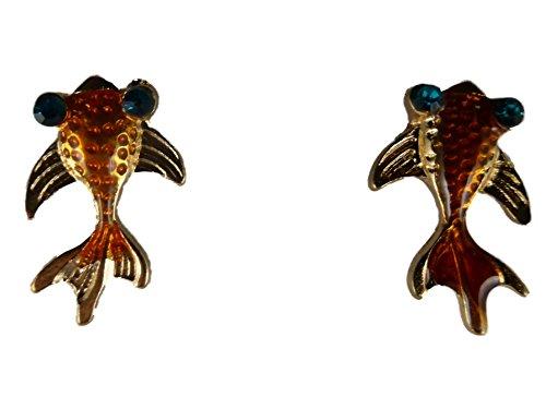 Ohrringe Stecker Fisch Goldfisch Aquarium Zierfisch aquaristik 8905