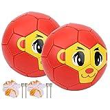 XQAQX Juguete de fútbol, Mini Pelota de fútbol, 2 Piezas n. ° 2 PVC Solf Mini Pelota Ligera para niños Mono de fútbol para jardín de Infantes de Escuela Primaria