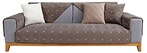 KIKIGO Sofas Relax Baratos/Más Nuevas Fundas Brazos Fundas para Sofá/(Vendido por Pieza/No Todo El Juego) Grey 110×210cm(43.31×82.68in)