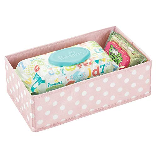 mDesign Caja de almacenaje para habitación infantil o baño – Cesta organizadora para el cuarto de los niños con...