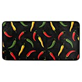susiyo Anti fatigue Kitchen Mat Red Green Yellow Chili Pepper Kitchen Floor Mat Non Slip Kitchen Rugs Cushioned Comfort Standing Mat Area Rugs Indoor Outdoor Entry Rug Floor Carpet?for Home 39x20 in