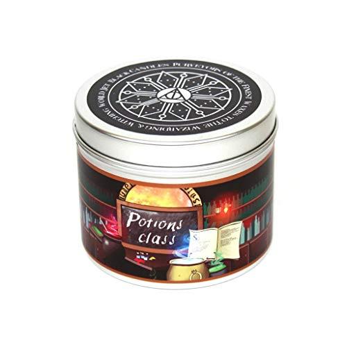 Happy Piranha LTD Vela perfumada Clase Potion Hecha a Mano con Aroma a toronja y Dulces sueños, Clase de pociones, Escuela de Brujas y Magos - Velas para Libros - Regalo literario