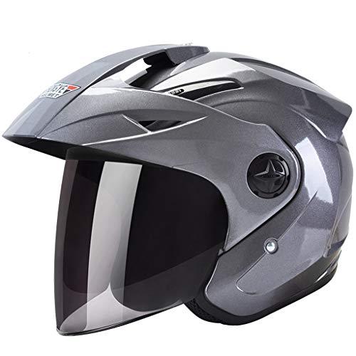 FLY® Casque, Casque D'équitation D'extérieur, Demi-casque, Anti-buée, Unisexe (Couleur : Gray)