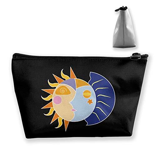 Sun Moon Stars Portable Maquillage Sac de Rangement Sac de Grande Capacité Main Travel Wash Bag