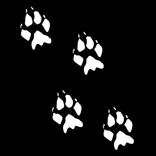 Coyote Track Decals 12 Piece Set (White)