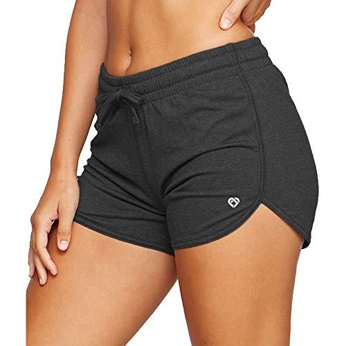 Colosseum Active Simone - Pantalones cortos de yoga y running para mujer, Negro, L