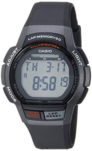 Casio Men's 10- Year Battery Quartz Sport Watch with Resin Strap, Black, 18.6 (Model: WS-1000H-1AVCF)